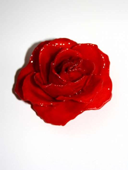 broche hanger echte roos groot rood meer dan mooi. Black Bedroom Furniture Sets. Home Design Ideas