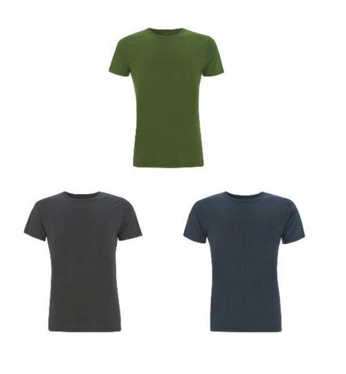 3-pack shirts bamboe groen-grijs-denim