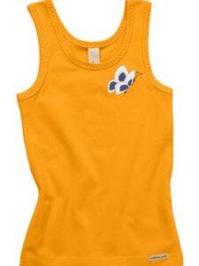 Onderhemd bio katoen Comazo - vlinder oranje