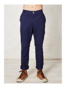 Mannenbroek bio katoen Braintree - Pierre slacks blauw
