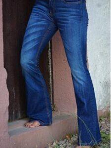 Damesjeans bio katoen Feurvogl - bootcut blauw