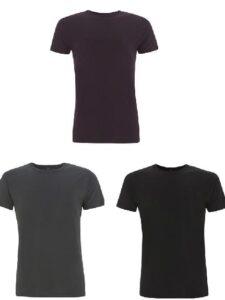3-pack shirt bamboe Continental - aubergine-grijs-zwart
