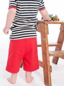 Babybroekje bio katoen Living Crafts - rood 2