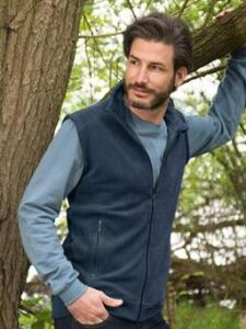 Bodywarmer bio fleece Living Crafts - blauw