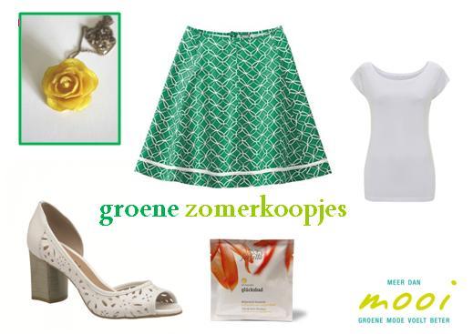 Combi rok Sophia groen