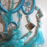 Fairtrade dromenvanger - turquoise spiegeltjes - 35cm 2