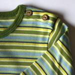 Kindershirt bio katoen Leela Cotton - lm streepjes groen-blauw 2