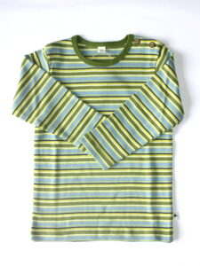 Kindershirt bio katoen Leela Cotton - lm streepjes groen-blauw