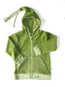 Kindervest bio katoen Leela Cotton - puntkap groen