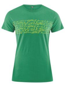 Hennep shirt HempAge -Typo groen