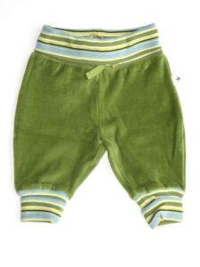 Babybroekje bio katoen Leela Cotton - bio velours groen-800