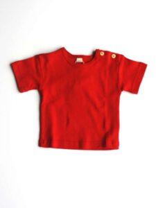 Babyshirt bio katoen Leela Cotton - rood-800