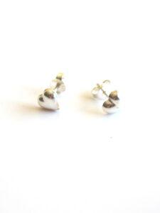 Fairtrade oorbellen Thailand - zilveren oorstekers hartjes