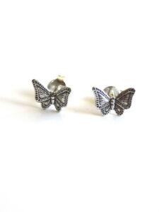 Fairtrade oorbellen Thailand - zilveren oorstekers vlinder