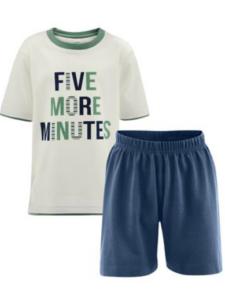 Fairtrade pyjama Living Crafts - meisje jongen five more minutes