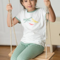 Fairtrade pyjama Living Crafts - meisje libelle groen 2