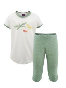 Fairtrade pyjama Living Crafts - meisje libelle groen