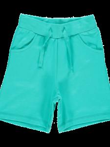 Kindershort bio katoen fairtrade Maxomorra - turquoise