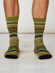 SPM224-Dalton-Bamboo-Socks-Olive-Front