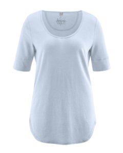 Shirt bio katoen-hennep HempAge, lichtblauw