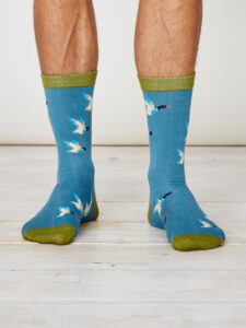 SPM226-Mallard-Bamboo-Socks-Dusty-Blue-Front
