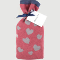 Cadeausetje bamboe sokken - hartjes roze-blauw