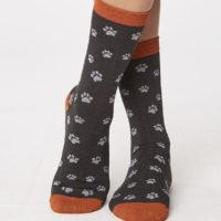 Cadeausetje bamboe sokken - pootjes grijs 1