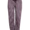 Fairtrade pyjamabroek bio katoen Albero - geruit paars
