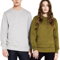Fairtrade sweater bio katoen Earth Positive - kaki model