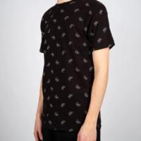 Fairtrade shirt bio katoen Dedicated - stockholm bike pattern zwart 2