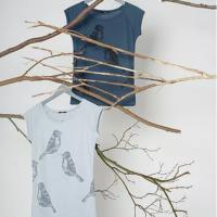 Fairtrade shirt bamboe Paala - two birds denim blue 3