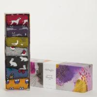 Cadeaubox 7x bamboe sokken Thought - diertjes 2