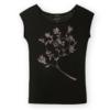 Fairtrade shirt bamboe Paala - winter berry zwart 2