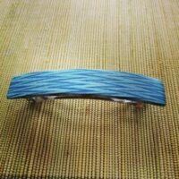 Haarspeld hout Kost Kamm - gekleurd zigzag blauw